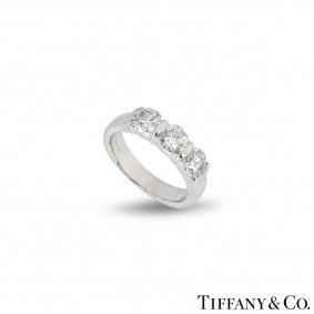 Tiffany & Co. Platinum Three Stone Diamond Ring